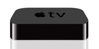 TV van de appel royalty-vrije illustratie