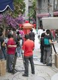 TV van de Film van de Bemanning van de film toont in China royalty-vrije stock afbeeldingen