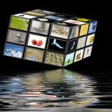 TV van de kubus Stock Fotografie