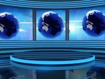 TV van de studio Stock Foto's
