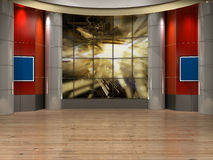 TV van de studio Stock Afbeelding