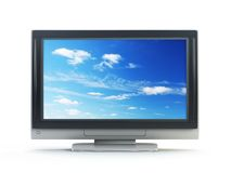 TV van het plasma Stock Foto's