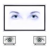 TV van het plasma Stock Afbeelding