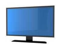 TV van het plasma met het empry scherm Stock Foto