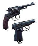 Två vapen Arkivfoto