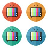 TV vector icon Stock Photo