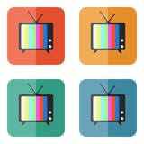 TV vector icon. On colored buttons Stock Photo