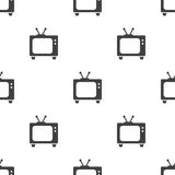 Tv, vector seamless pattern Royalty Free Stock Images
