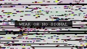 TV vervormd signaal met geëtiketteerd vector illustratie