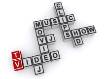 Tv Video Dj Movie Music Clips Show Hd On White Royalty Free Stock Images