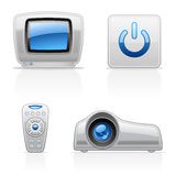 TV Video icons Stock Image