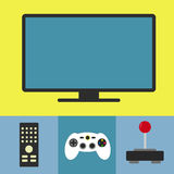 Tv and videogame Royalty Free Stock Photos