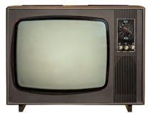 TV vieja aislada en blanco Imágenes de archivo libres de regalías