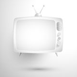 TV vintage black and white shadow Royalty Free Stock Photos