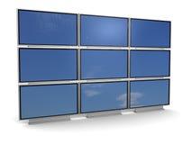 Tv wall stock illustration