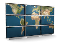 Tv wall Royalty Free Stock Image