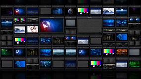 TV wall_051 stock videobeelden