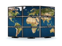 Tv wall Stock Photography