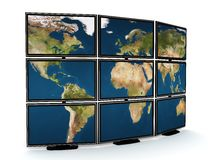 Tv wall Stock Image