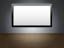 TV on wall_II stock illustration
