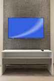 Tv on wall Stock Image
