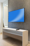 Tv on wall Stock Images