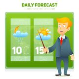 Tv Weather News Reporter Stock Photography