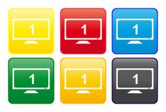 TV web button Royalty Free Stock Images