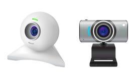 Två webcams Fotografering för Bildbyråer