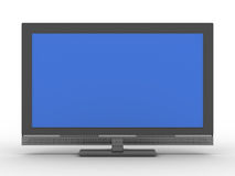 TV on white background. Isolated 3D image Royalty Free Stock Image