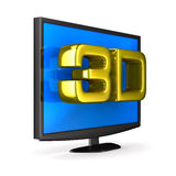 TV on white background Stock Photography