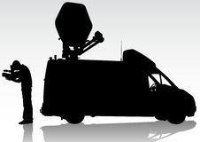 TV work car Royalty Free Stock Photography
