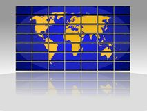 TV world map Royalty Free Stock Photos