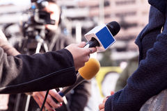 TV wywiad Fotografia Stock