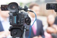 TV wywiad Konferencja prasowa Zdjęcia Royalty Free