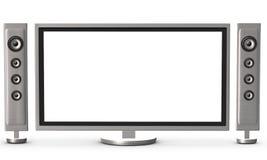 TV y altavoces Fotografía de archivo libre de regalías