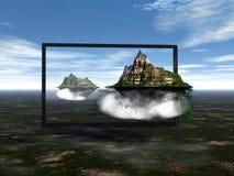 TV z obwódka wizerunkiem Obraz Royalty Free