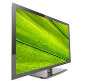 TV z zielonym liściem royalty ilustracja