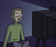 TV zombie Stock Images