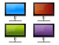 TV6_4colors Stock Image