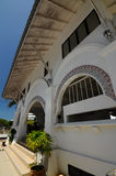 Tvagning av Abidin Mosque i Kuala Terengganu, Malaysia Arkivbild