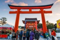 Tvagning på Fushimi Inari Royaltyfri Foto