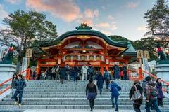 Tvagning på Fushimi Inari Arkivfoto