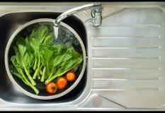 Tvagninggrönsak Fotografering för Bildbyråer