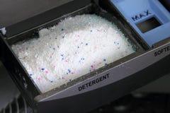 tvagningpulver eller tvätteritvättmedel Fotografering för Bildbyråer