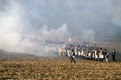 TVAROZNA, CZECH REPUBLIC - NOVEMBER 28: History fans in military Stock Images