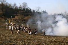 TVAROZNA, CZECH REPUBLIC - NOVEMBER 28: History fans in military Stock Image