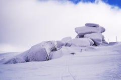 Tvaroznik, Krkonose mountains. Tvaroznik, a distinct rock formation in Krkonose mountains, at Czech-Polish border Stock Image