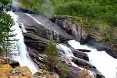Tveitafossen cai em Noruega Imagens de Stock Royalty Free