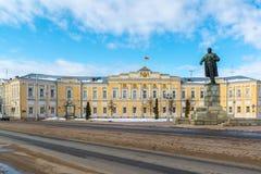 Tver, Россия - 27-ое февраля 2016 Администрация города Tver, построенного в XVIII веке Стоковое фото RF